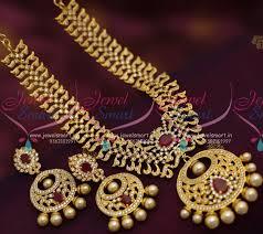 chandbali earrings online nl7130 cz ruby pearl broad necklace chand bali earrings design