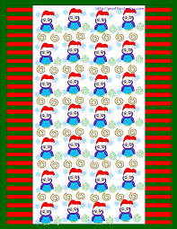 owl christmas wrapping paper owl christmas printable stationery bookmarks candy wrappers