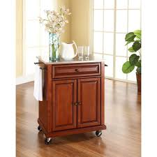 kitchen islands with stainless steel tops crosley black kitchen cart with stainless steel top kf30002ebk