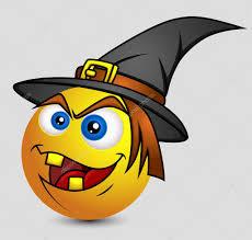 halloween witch emoji smiley emoticon u2014 stock vector baavli