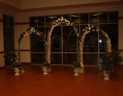 wedding arches with lights white wedding arches package