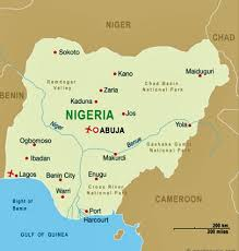 map of nigeria africa lagos nigeria map my