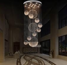Chandelier With Crystal Balls Various Sizes Fit 110 240v Modern Spiral Sphere Crystal Chandelier