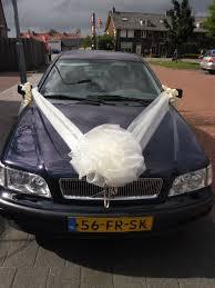 car ribbon wedding car decoration organza ribbons bow wedding car