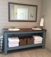 Lodge Style Bathroom Awesome Farm Style Bathroom Vanities And Apron Sink Bathroom