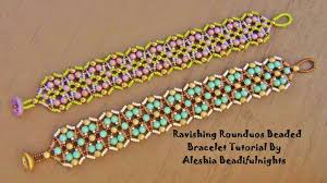 beaded bracelet patterns images Ravishing rounduos beaded bracelet tutorial jpg