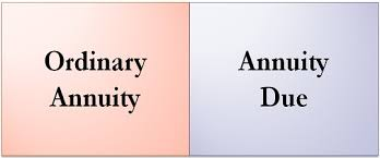 Ordinary Annuity Table Difference Between Ordinary Annuity And Annuity Due With