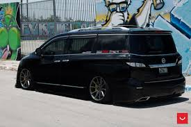 bagged nissan car bagged nissan quest on vossen wheels could start a new trend