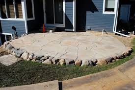 Irregular Stone Patio 33 Stone Patio Ideas Pictures Designing Idea