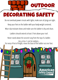 outdoor holiday decorating safety