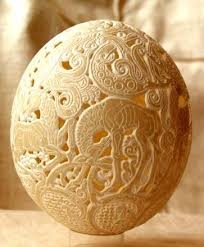 painted ostrich eggs easter eggs decoration