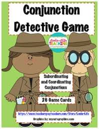 conjunction detective game with printable best seller by lovin life