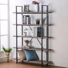 Industrial Metal Bookshelf Industrial Bookcase Ebay