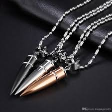 mens chain necklace silver images Wholesale 316l stainless steel black silver rose gold mini bullet jpg