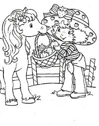 strawberry shortcake horse coloring pages coloring me