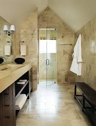 Bathroom Neutral Colors - travertine liner tiles bathroom contemporary with neutral colors