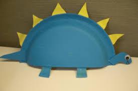 preschool crafts for kids stegosaurus paper plate craft