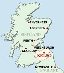 map of scotland and map of scotland featuring kelso scottish borders uk