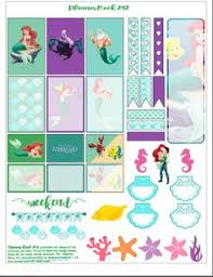 mermaid free printable toppers wrappers