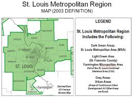 stl metro map shrinking city flourishing region st louis region