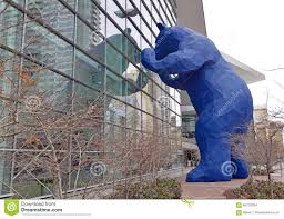 Colorado Convention Center Map by Blue Bear At The Denver Convention Center Editorial Stock Photo
