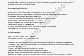 Agile Testing Resume Sample Resume Sample Test Engineer Resume Sample Software Testing Resume