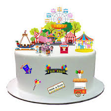 up cake topper fairground fair carnival stand up edible wafer paper