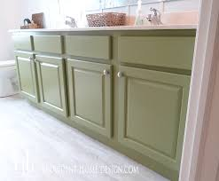 painted bathroom cabinets ideas how to paint a bathroom vanity like a professional