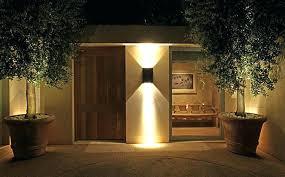 outside front door lights lights in front of house house front lighting dusk lawn led