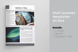 newsletter template 12 pages magazine templates creative market