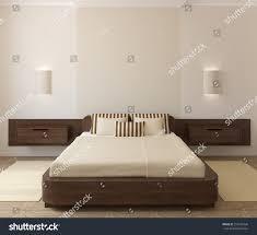 interior modern bedroom 3d render stock illustration 313595036
