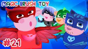 pj masks peppa pig transforms pj masks episodes fun