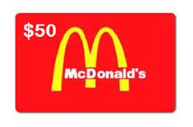 gift card uwinit 50 mcdonalds gift card prize