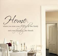 stickers muraux cuisine citation accueil amis famille wall sticker citation d salon couloir