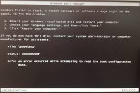 how to fix boot error 0xc000000f