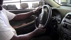 toyota steering wheel 2011 toyota corolla steering wheel lock release how to by