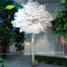 gnw btr015 wholesale wooden artificial white tree with banyan