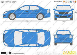 opel vectra 2000 the blueprints com vector drawing opel vectra c