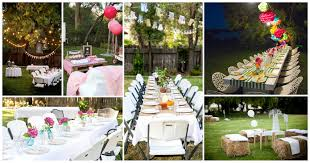 backyards compact ideas for birthday outdoor party decoration