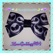 skellington ribbon skellington bow nightmare before christmas