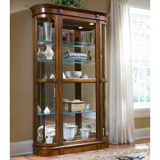 How To Decorate New House Curio Cabinet Pulaski Oak Corner Curio Cabinet How To Decorate