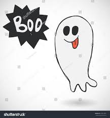 cartoon halloween images spooky cartoon halloween ghost speech bubble stock vector