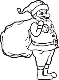 free printable santa claus coloring kids