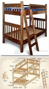 mission style bed frame plans home beds decoration