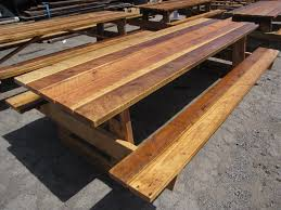 rustic outdoor picnic tables nice reclaimed picnic table best ideas about rustic dini on custom