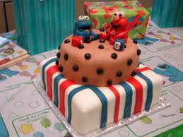 cookie monster and elmo sesame street cakes bear heart baking