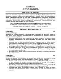 Resume Manager Restaurant Resume Template Server Resume Example 18 Amazing