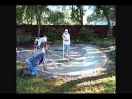 How Much To Concrete Backyard How To Build A Circular Concrete Patio With Fire Pit And Retaining