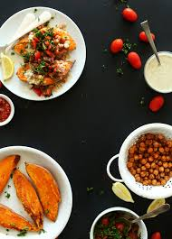 Mediterranean Vegan Kitchen - mediterranean baked sweet potatoes minimalist baker recipes