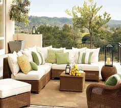 Living Room Wicker Furniture Furniture Fascinating Outdoor Living Room Decoration Using Light